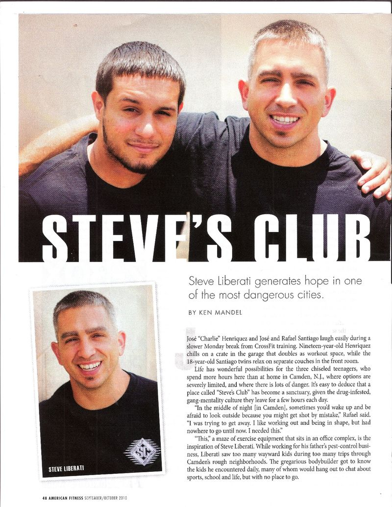 American Fitness Steve's Club article 1
